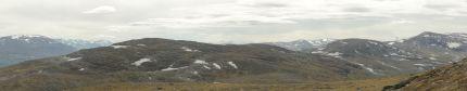 Njúlla-Gipfel: Blick in Richtung Süden zum Kårsavagge