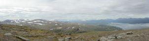 Njúlla-Gipfel: Blick in Richtung Riksgränsen